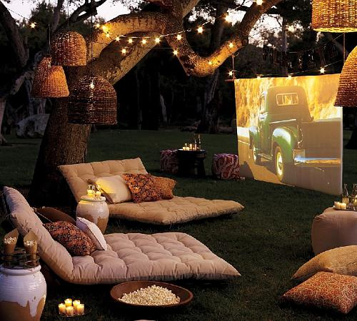 small garden could be used as an outdoor cinema