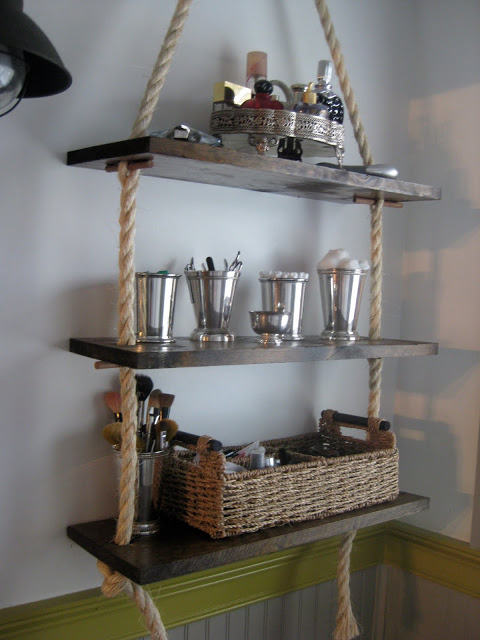 rope bathroom shelving