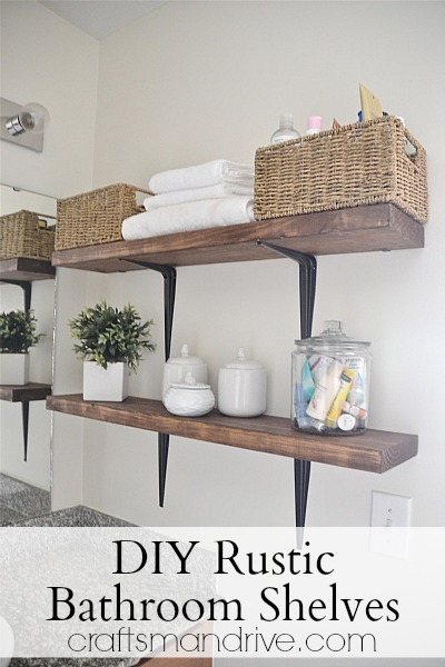 rustic bathroom shelves (via craftsmandrive)