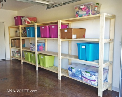 economical garage shelving (via ana-white)