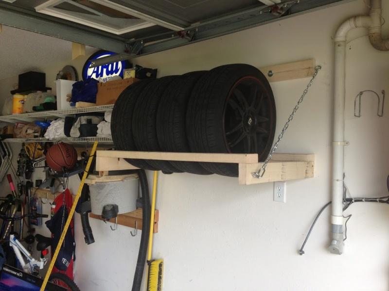 wheel tire storage rack