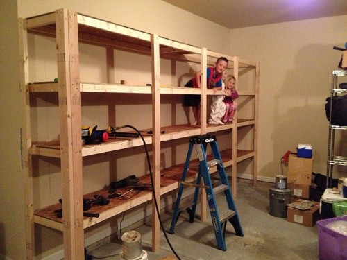 sturdy shelves (via diy)