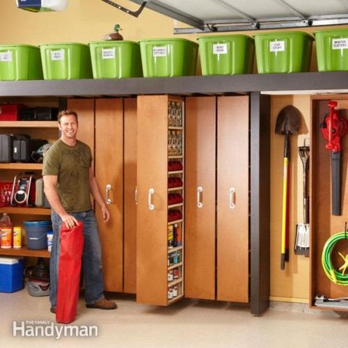 sliding shelves (via familyhandyman)