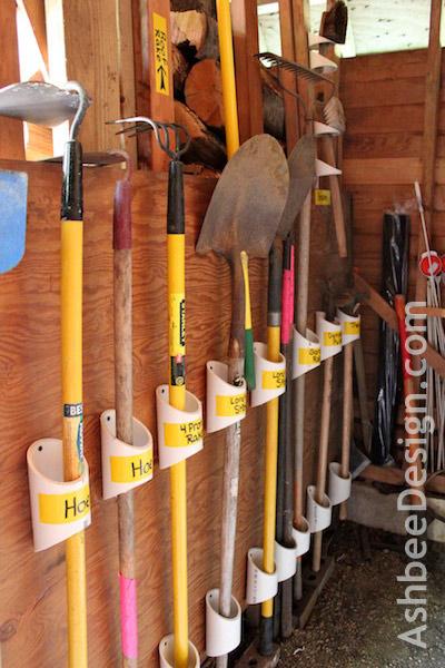 organizing tools with pvc