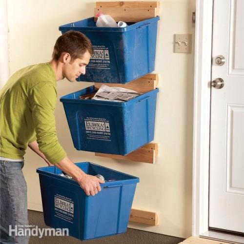 recycle bin hangers (via familyhandyman)
