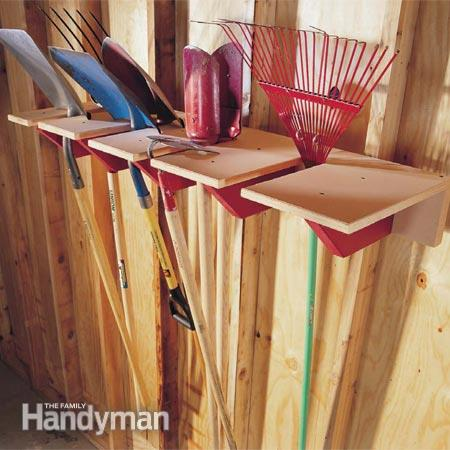 shovel rack (via familyhandyman)