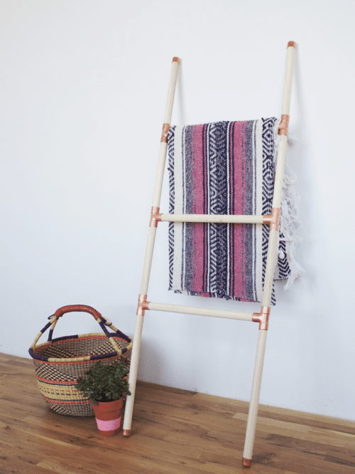 wood and copper ladder (via foxtailandmoss)