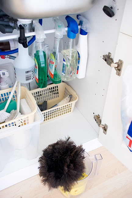 How To Organize Stuff Under The Kitchen Sink