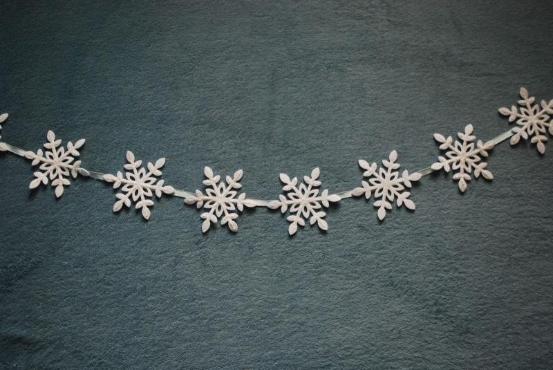 Easy And Cheap Snowflake Christmas Garland