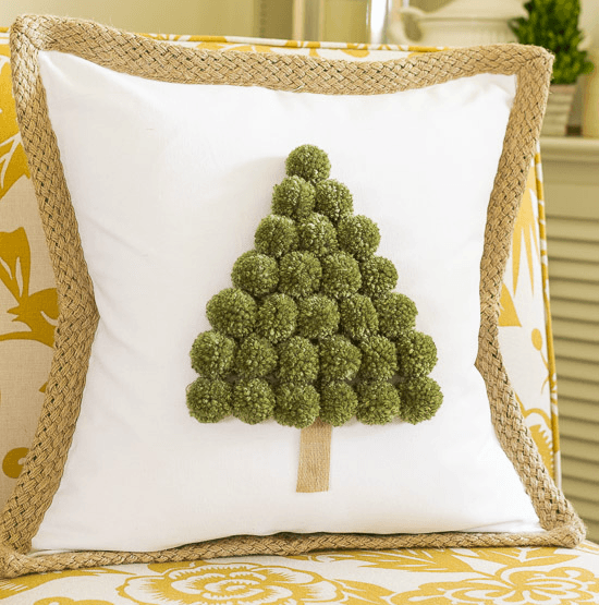 pompom tree pillow