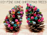 pinecone trees with pompoms (via blogalacart)