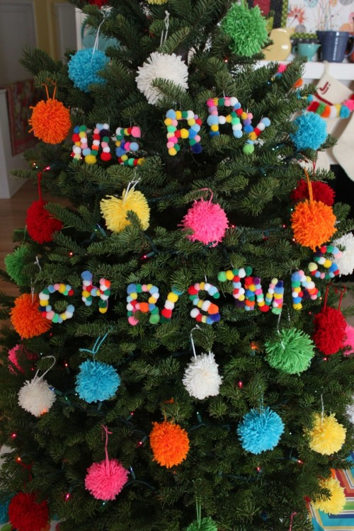 pompom letter ornaments (via paintthegownred)