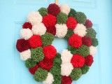 big pompom wreath