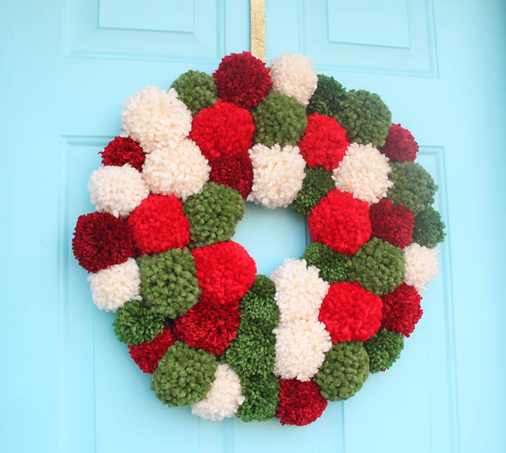 big pompom wreath