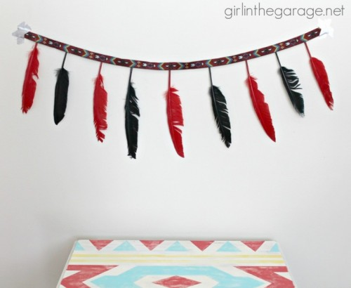 tribal feather garland (via girlinthegarage)