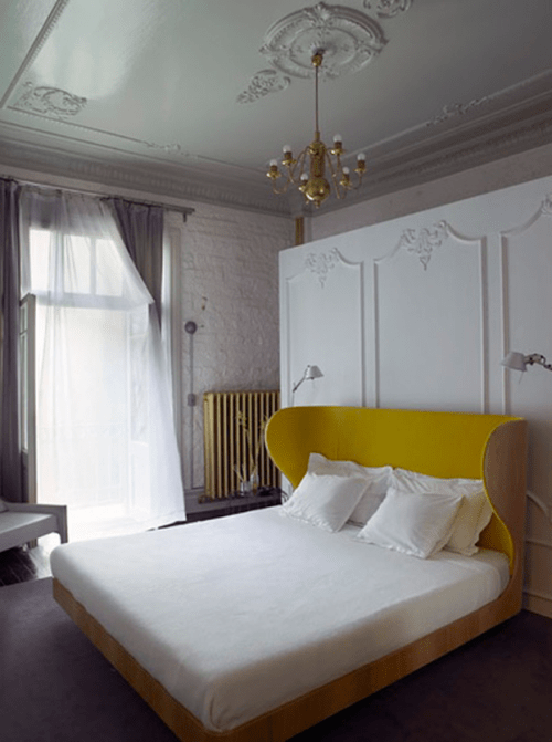 Bedroom's decor could only win if you add lots of mouldings to it. It'd become much more chic.
