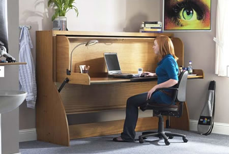 space saving study bed - Space Saving Desk