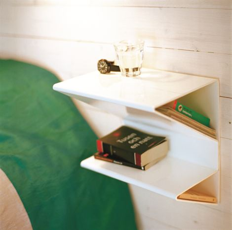 E Saving Wall Mount Bedside Table
