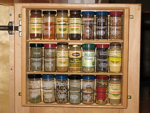 Spice Rack Inside Kitchen Cabinet Door