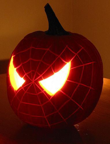 Spiderman Pumpkin Face Shelterness