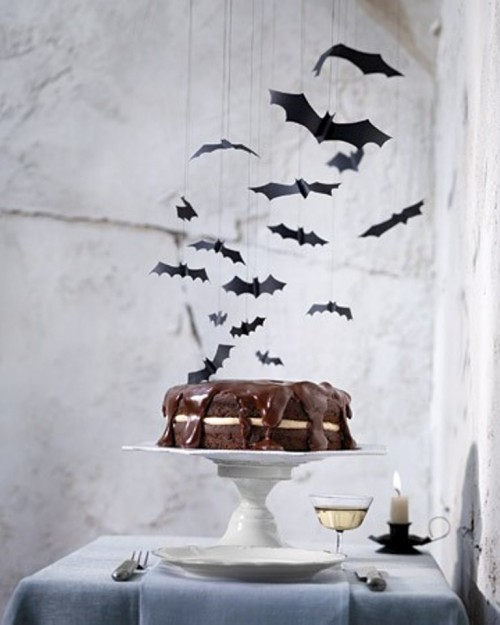 hang some paper bats over your dessert table to make it scary without much effort and it will look cool