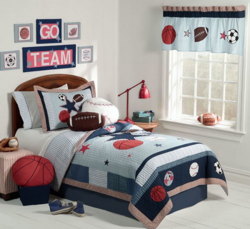 Popular Sport Themed Boys Bedrooms