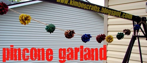 Spray Painted Pinecone Garland