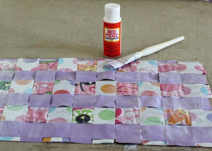 spring paper bag placemats