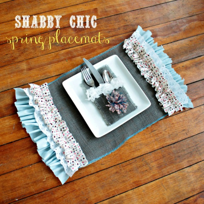 shabby chic psring placemats