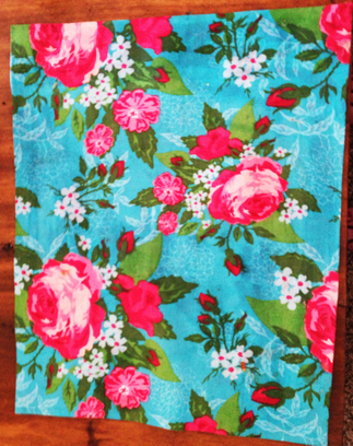 floral fabric placemats
