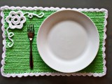 crochet spring placemat