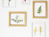3D botanical framed wall