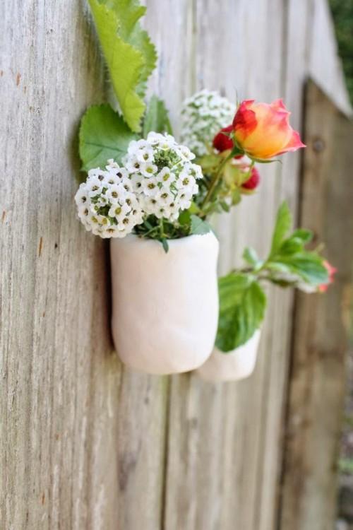 wall-mounted pinch pots (via make-haus)