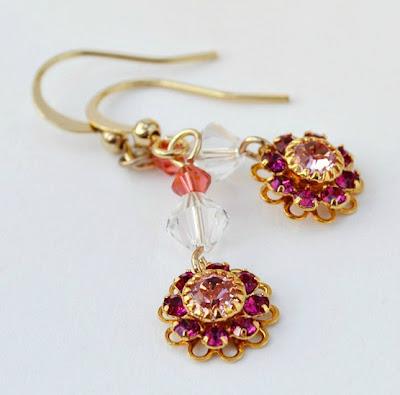 DIY spring flower earrings