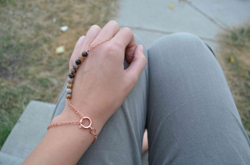 DIY beaded hand piece