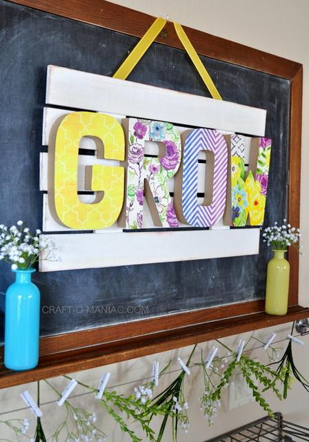 colorful GROW sign (via craft-o-maniac)