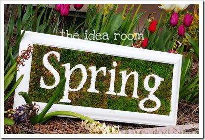 3D styrofoam spring sign (via theidearoom)