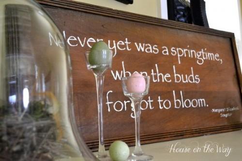 hand-painted spring sign (via hometalk)
