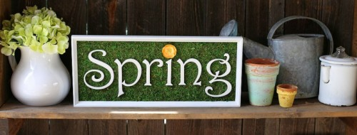 mossy spring sign (via craftcuts)