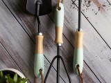 paint dipped garden tools