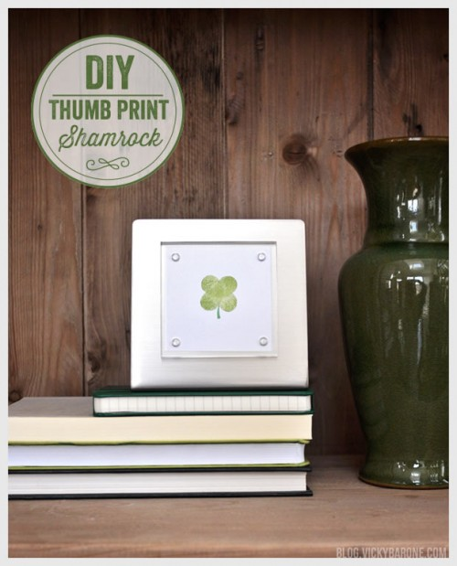 thumb shamrock art piece (via blog)