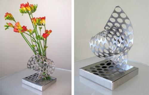 Steel Perforated Flower Vase Shelterness
