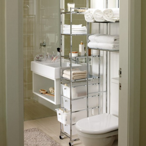 Storage Ideas For Small Bathrooms. Movable Storage Solutions Are Perfect For Small Bathrooms
