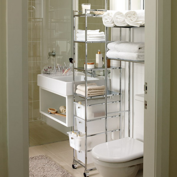 movable storage solutions are perfect for small bathrooms. 47 Creative Storage Idea For A Small Bathroom Organization