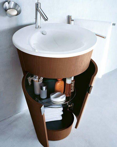 creative storage idea for a small bathroom organization shelterness