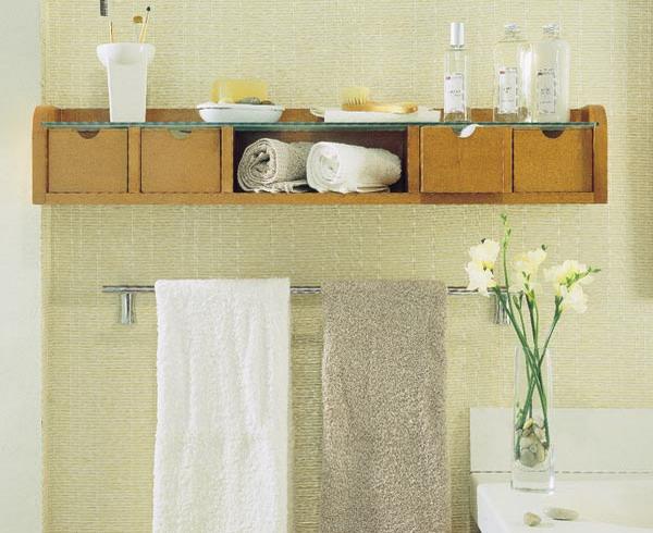 creative storage idea for a small bathroom organization, Home decor