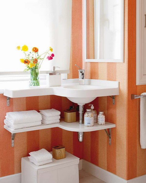 Creative Storage Idea For A Small Bathroom Organization - Bathroom sink shelf ideas for small bathroom ideas