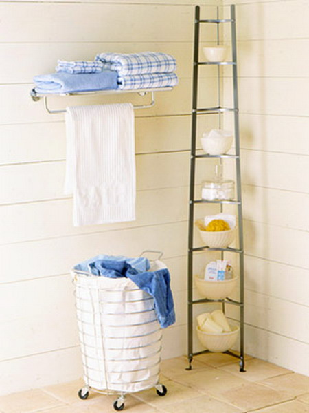 Awesome Corner Storage Is A Must For Any Little Bathroom