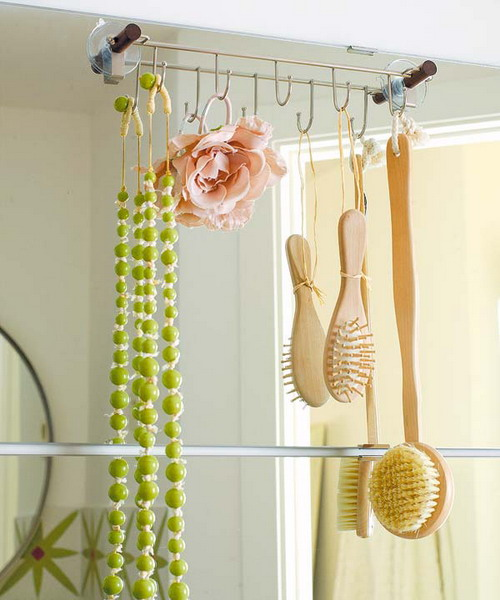 Clever Towel Storage For Small Bathroom Idea. Hooks Are Useful Not Only For  Towels But For Other Stuff Too