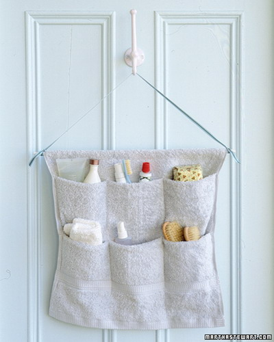 Hanging Storage Solutions Are Perfect For A Tiny Bathroom